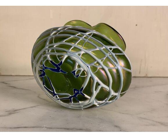 Vase en verre coloré