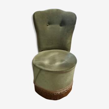 Fauteuil crapaud velours vintage trend décoration