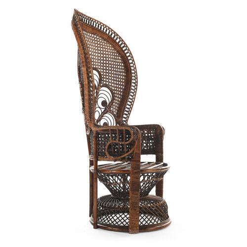 """Peacock """"emmanuelle"""" wicker armchair"""