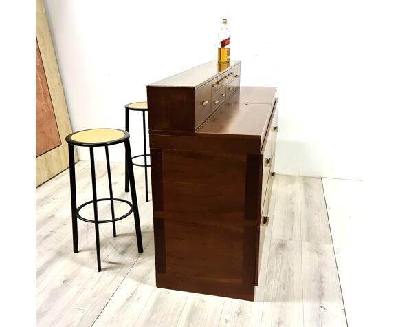 Meuble bar par Antonio Virgilio pour Bernini Italie années 1970