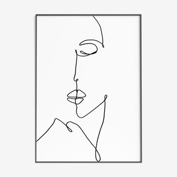 Calm woman - 30x42cm