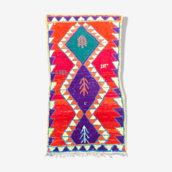 Tapis berbere boucherouite 115x265 cm