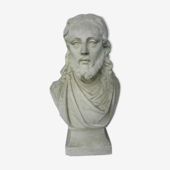 Buste en plâtre personnage antique fin XIX ème début XX ème siècle