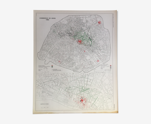 Carte plan Paris 1962