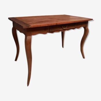 Table Louis XV en bois naturel