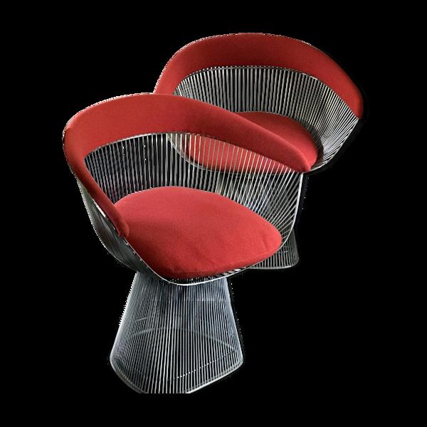Selency Paire de fauteuils Warren Platner