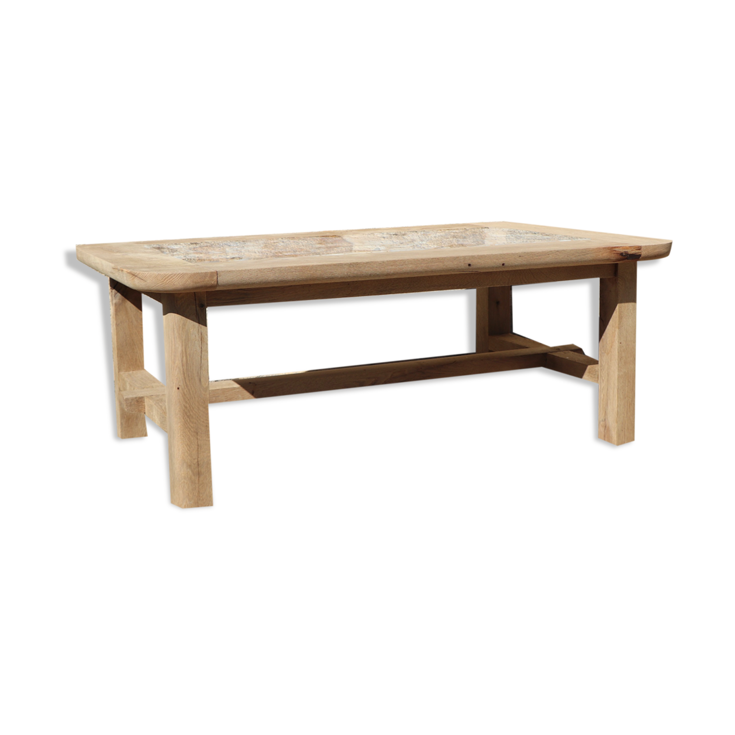 Table basse en bois et onyx design XX