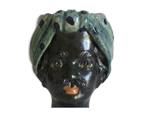 Vase tête mini pois homme