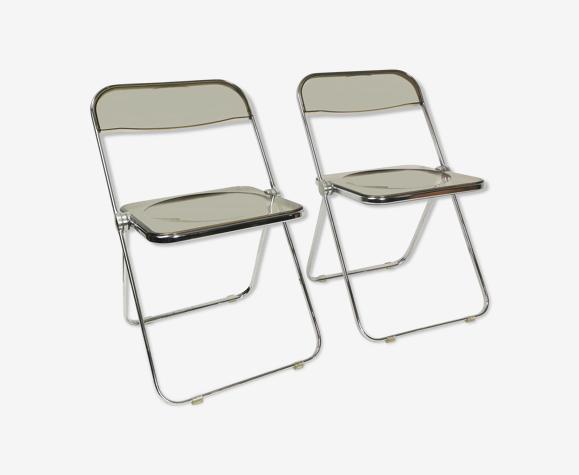 Paire de chaises conçue par Giancarlo Piretti, Castelli, Italie, années 1960