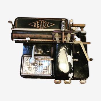 Heady typewriter 1920