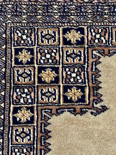 Tapis oriental en laine et soie ancien 123cmx190cm
