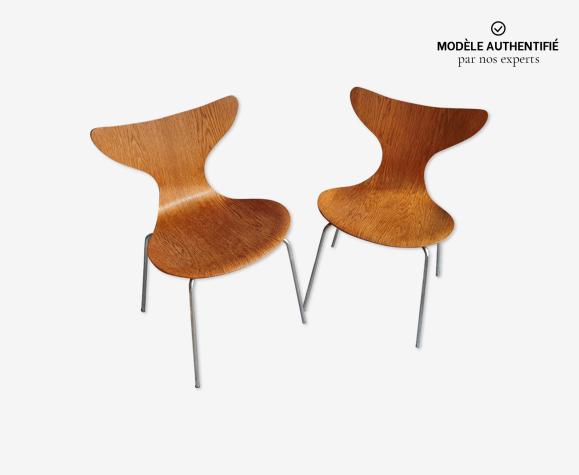 Paire de chaises seagull d'Arne Jacobsen pour Fritz Hansen