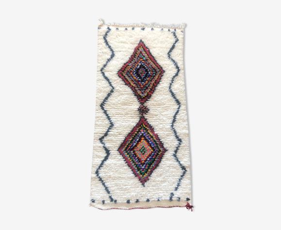 Tapis berbere marocain azilal 108x52 cm