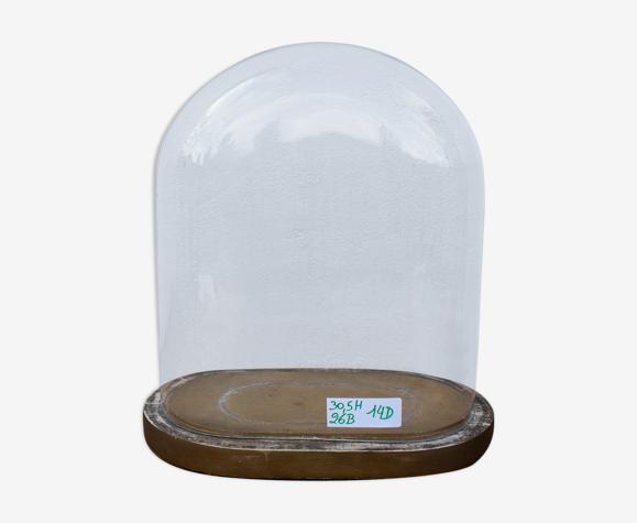 Vieille globe de mariée en verre ovale