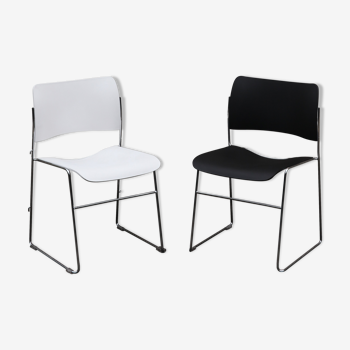 Pair of chairs 40/4 by David Rowland for Howe