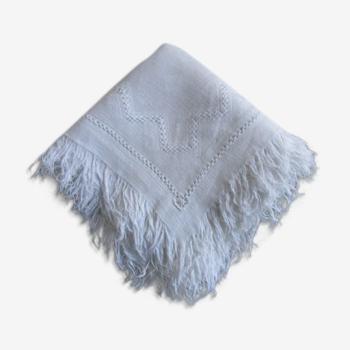 Lot de 10 serviettes a thé anciennes damassées-monogrammées-brodées 30x30cm