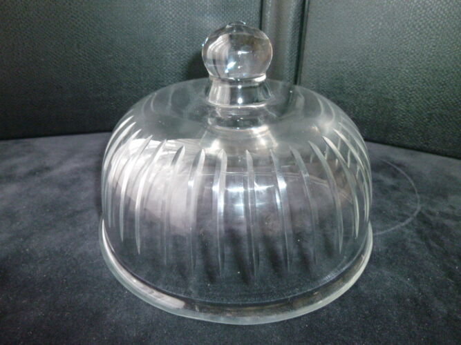Cloche à fromage en verre pressé moulé