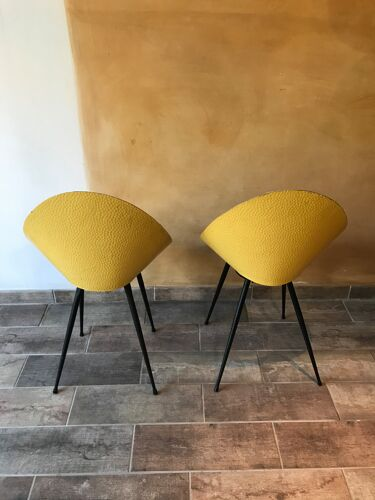 Paire de chaises années 50