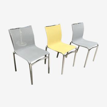 Lot de 3 chaises Alias, design italien