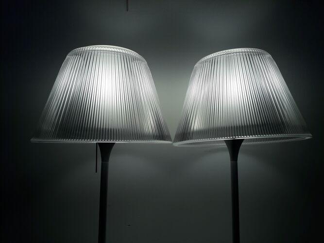 Lampes à poser Starck pour Flos verre et aluminium