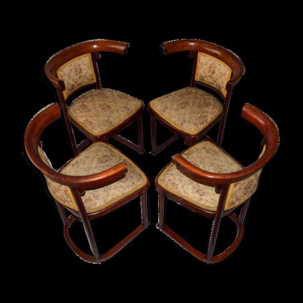 Chaises de dîner de Sécession par Josef Hoffmann pour Thonet années 1910