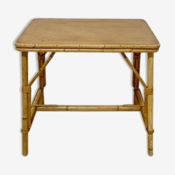Table d'appoint ou bureau enfant en rotin