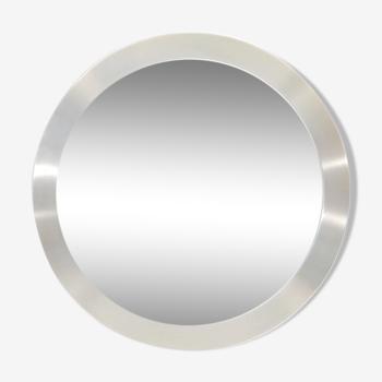 Miroir scandinave rond en aluminium 65cm