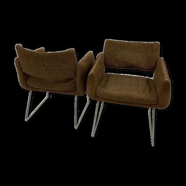Paire de fauteuils de Joseph André Motte pour Steiner