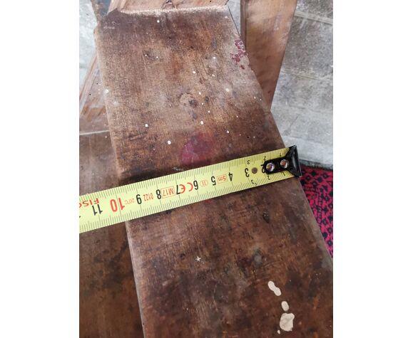 Ancien escabeau bois vintage