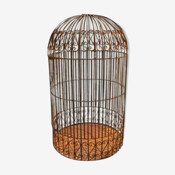 cage à oiseaux en fer forgé, volière