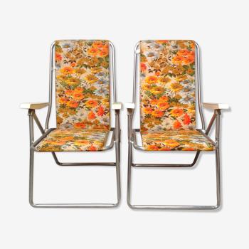 Paire de chaises pliantes  Kettler vintage 1970