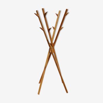 Porte manteau bambou pliant