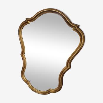 Miroir en bois doré 60cm