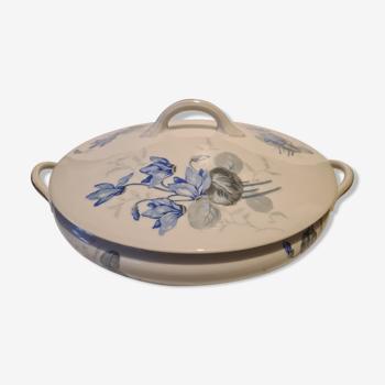 Soupière porcelaine de Limoges décor floral