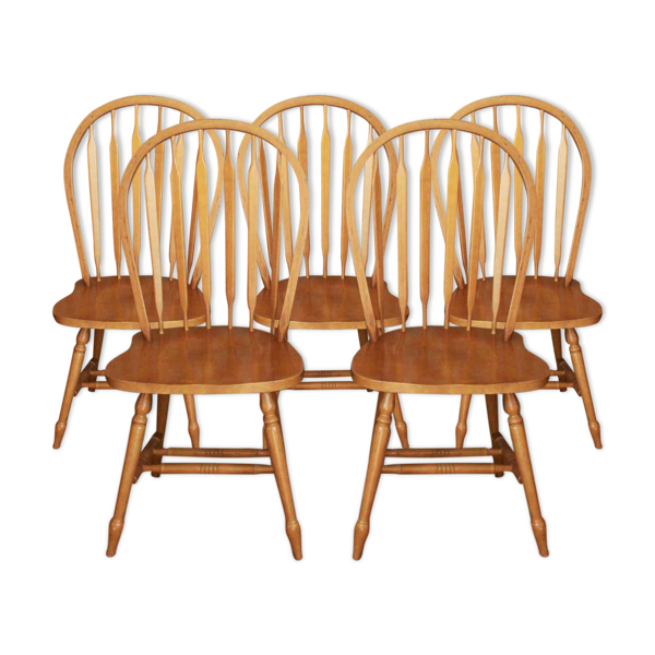 Selency Lot de 5 chaises Windsor