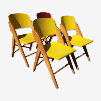 Chaises vintage pliantes années 50