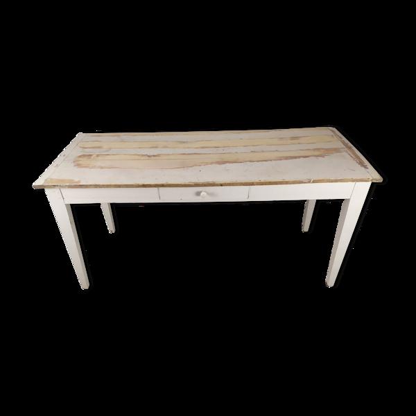 Table de ferme console patiné