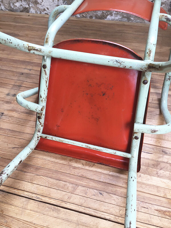 2 fauteuils de bistrot métal