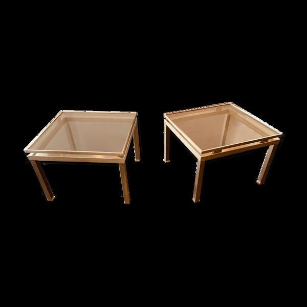 Selency Paire de tables Guy Lefevre Maison Jansen circa 1970