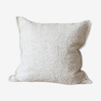 Housse de coussin blanc uni 60 x 60 cm