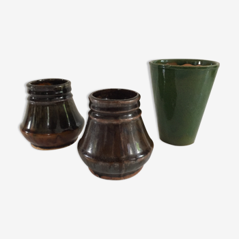 Set of 3 vintage ceramic vases