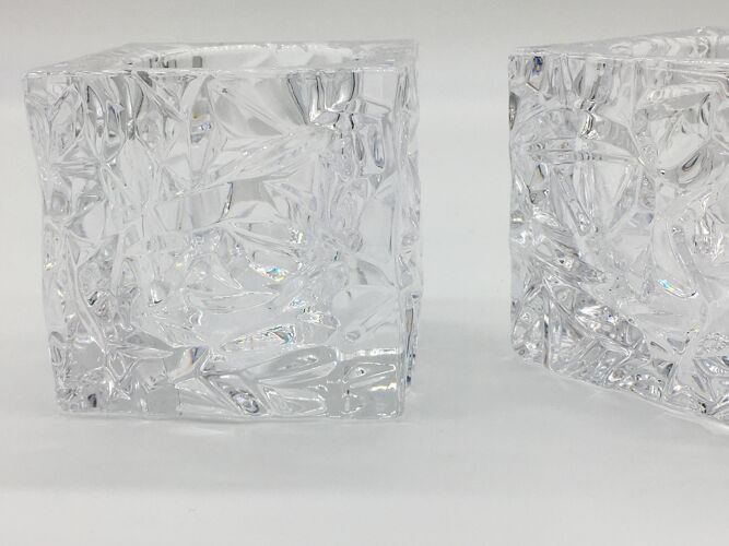 Paire de photophores en cristal
