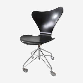 Chaise de bureau modèle 3117 par Arne Jacobsen pour Fritz Hansen, années 1950