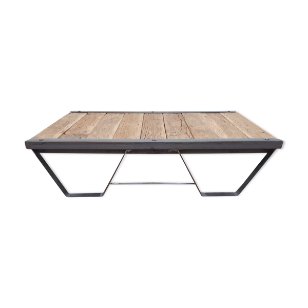 Table basse style industriel sncf