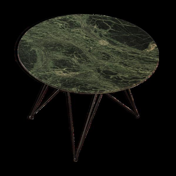 Selency Table à manger en marbre, ø 105 cm