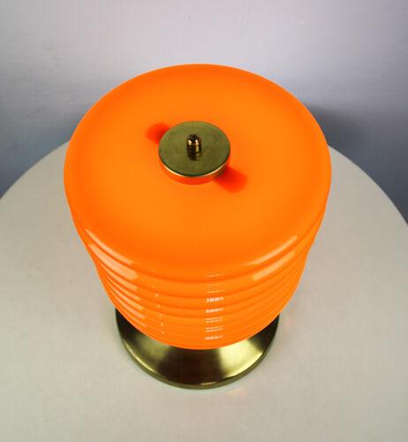 Lampe de table en verre orange du milieu du siècle