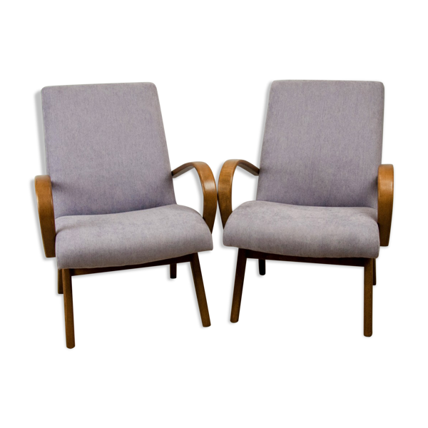 Model 53 armchairs by Jaroslav Smidek for Ton