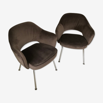 Paire de fauteuils Conference d'Eero Saarinen