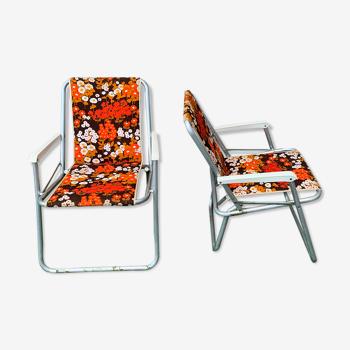 Paire de chaises de camping vintage Kettler