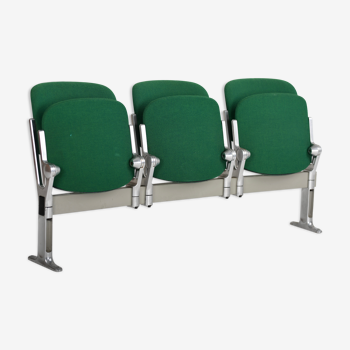Three chair Anonima Bench by Giancarlo Piretti for Castelli, 1960s